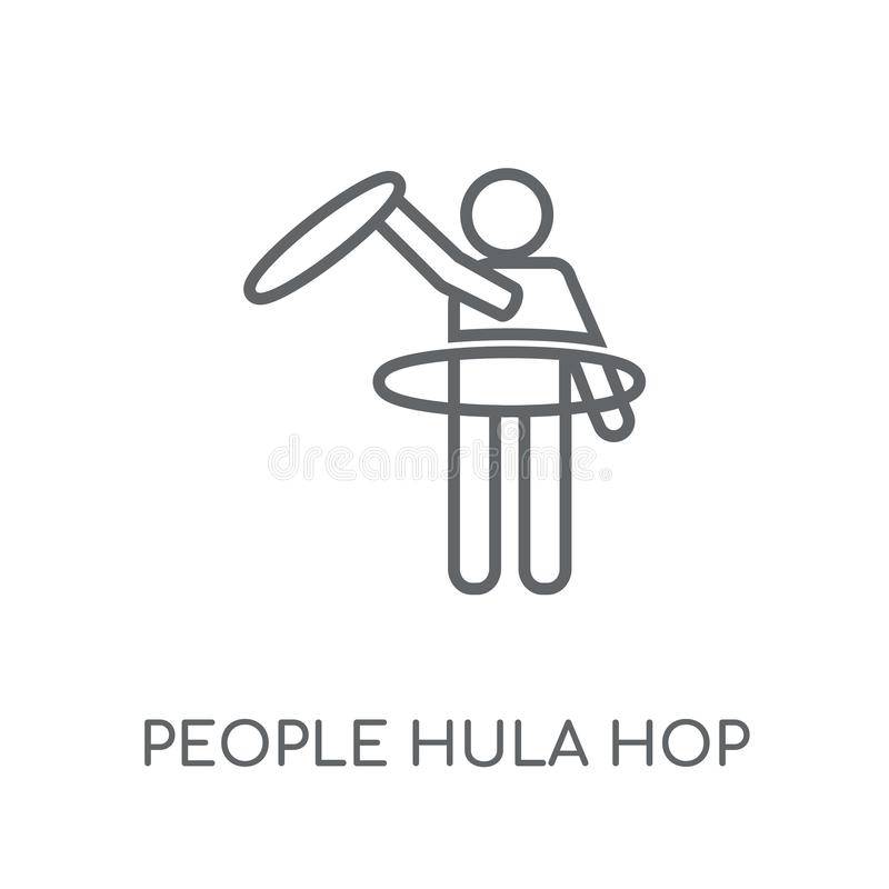People Hula hop icon linear icon. Modern outline People Hula hop stock illustration