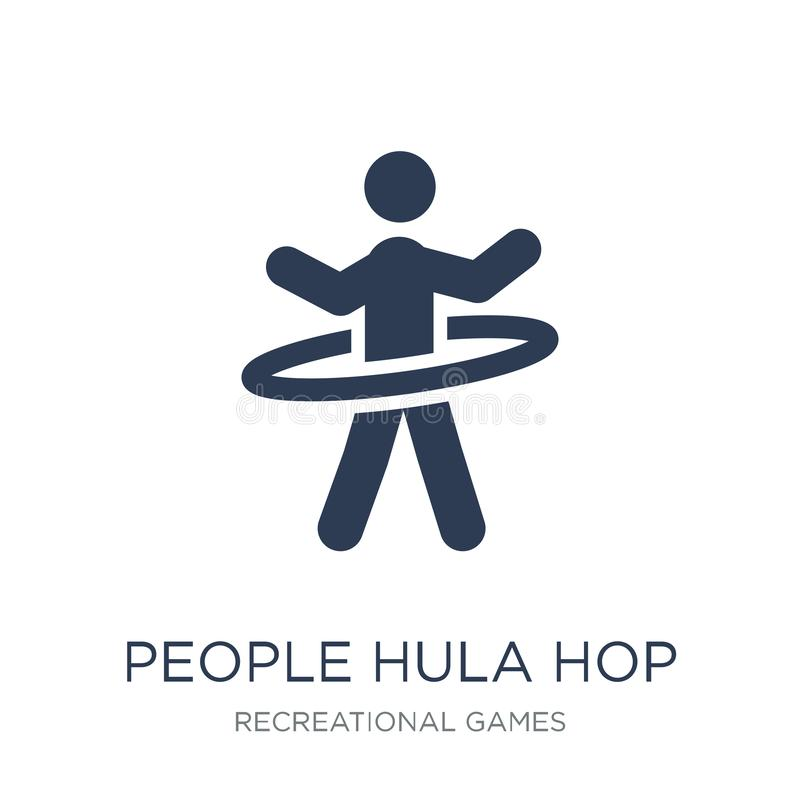 People Hula hop icon icon. Trendy flat vector People Hula hop icon on white background from Recreational games collection stock illustration