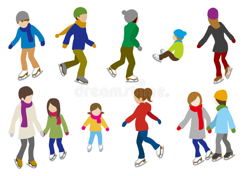 Download People Ice Skating ,isolated Royalty Free Stock Images - Image: 35590909