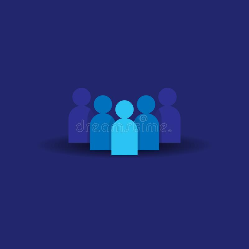 People Icon. Business corporate team working together. Social network group logo symbol. Crowd sign. Leadership or community conce royalty free illustration
