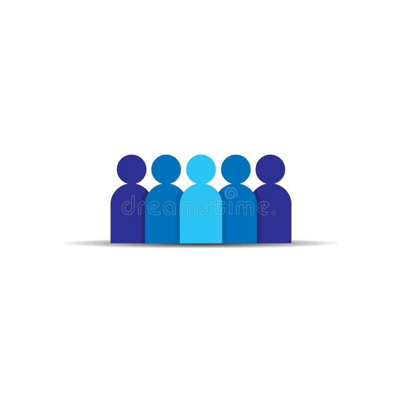 People Icon. Business corporate team working together. Social network group logo symbol. Crowd sign. Leadership or community conce stock illustration