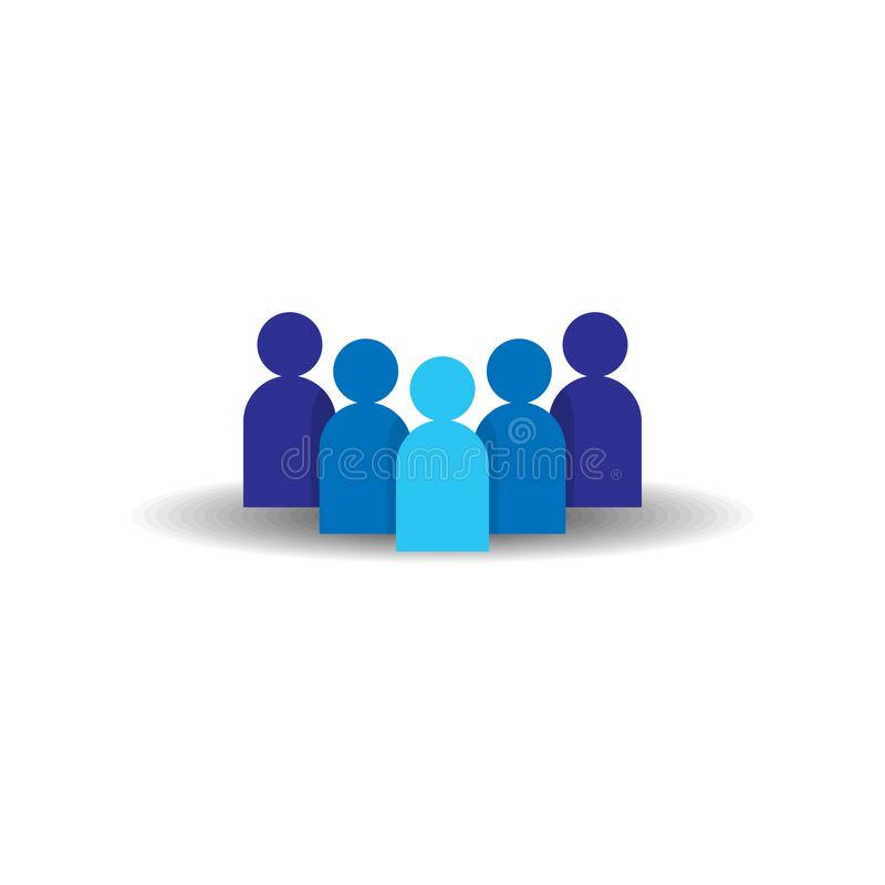 People Icon. Business corporate team working together. Social network group logo symbol. Crowd sign. Leadership or community conce vector illustration