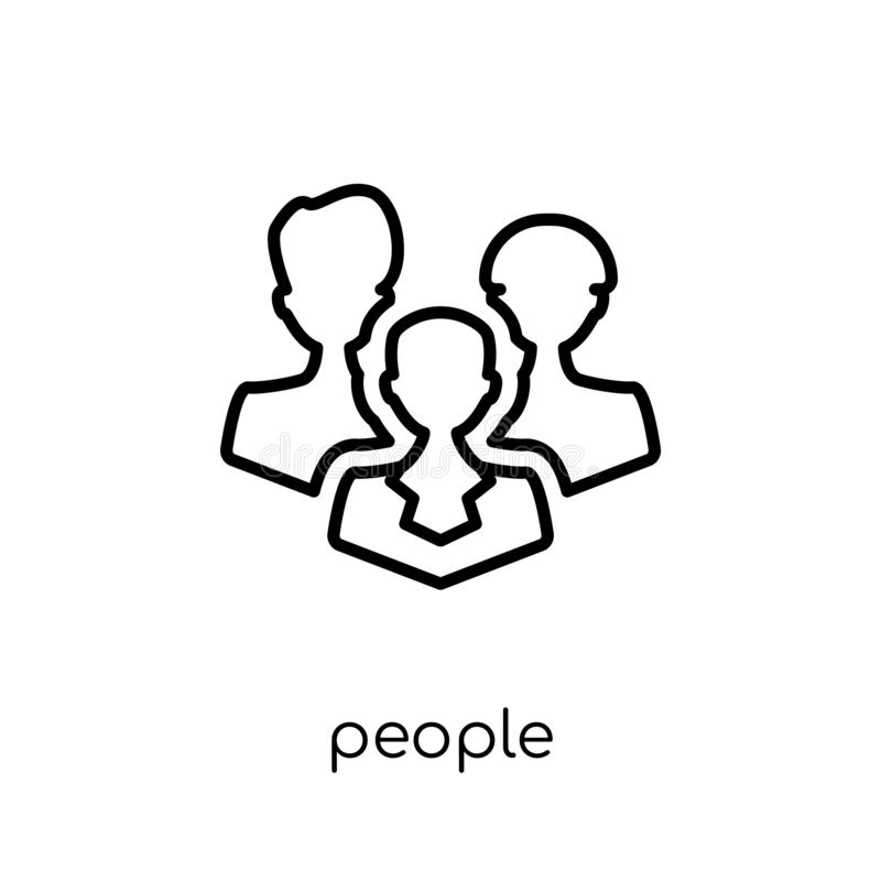 People icon from collection. royalty free illustration