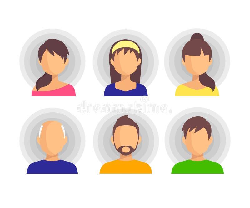 People Icon flat Isolated Background. stock illustration