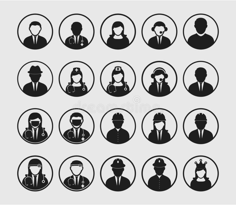 People icon set of different royalty free illustration