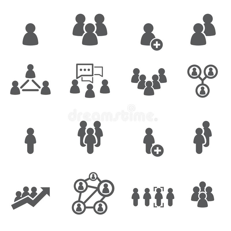 People icon set. /16 vector for design vector illustration