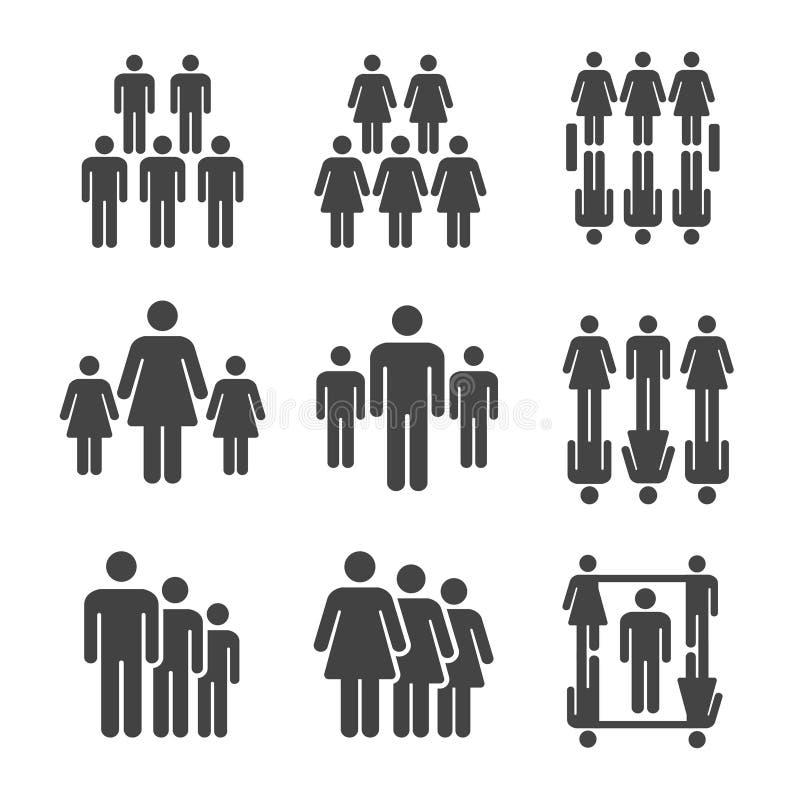 People icon set. People,population icon set,vector and illustration vector illustration