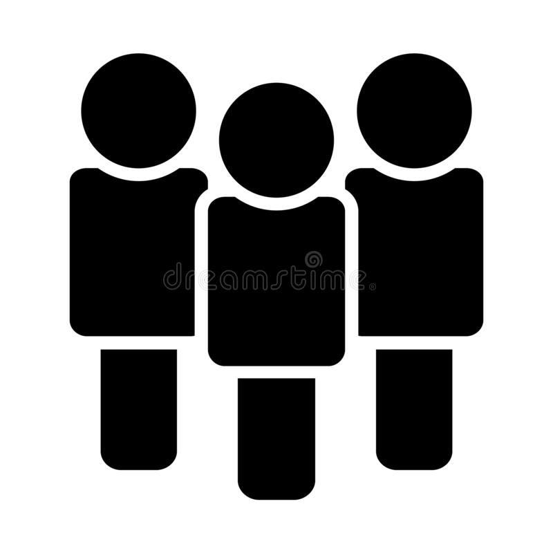 People icon in the trendy flat style on the white background. Isolated. royalty free illustration