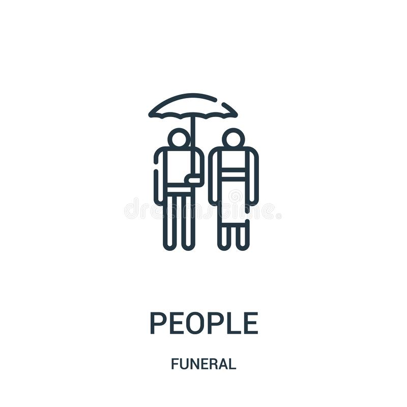 People icon vector from funeral collection. Thin line people outline icon vector illustration. Linear symbol for use on web and. Mobile apps, logo, print media stock illustration