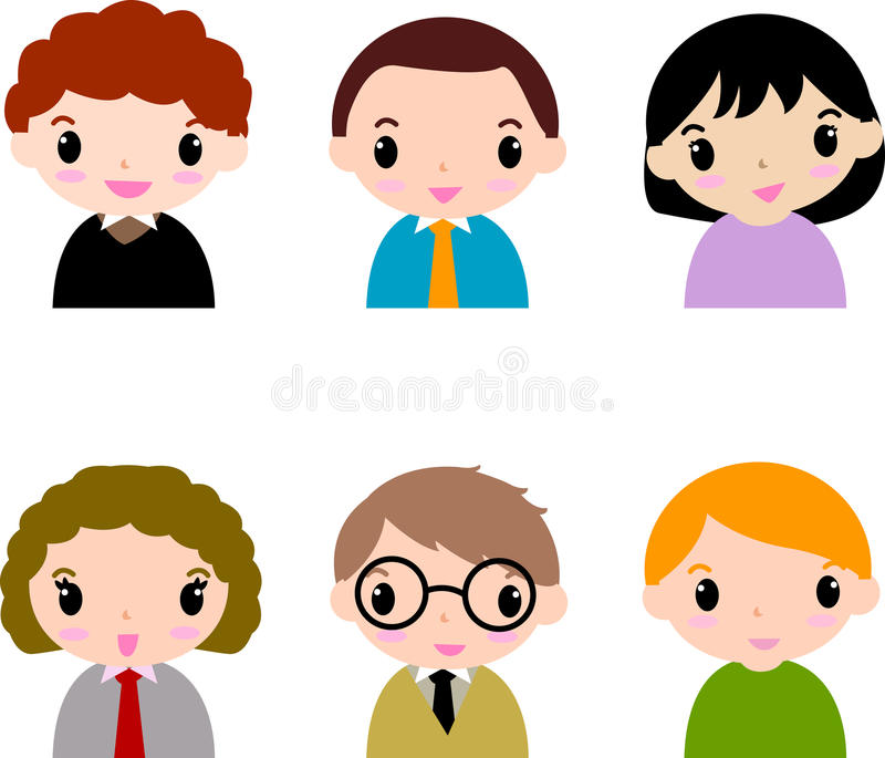 People icons. Cartoon people icons -illustration art royalty free illustration