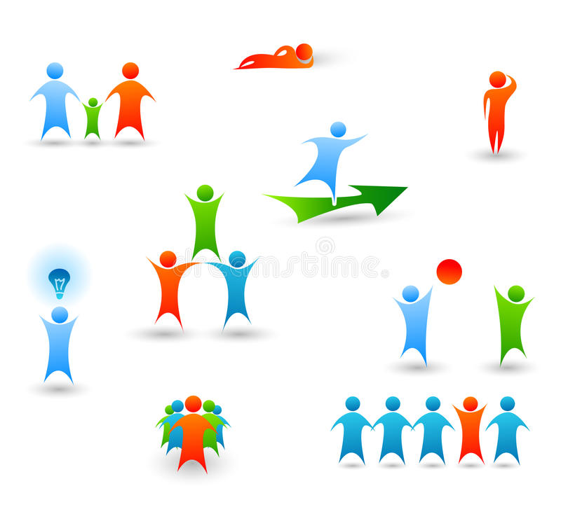 Download People Icons stock vector. Image of play, business, people - 21199492