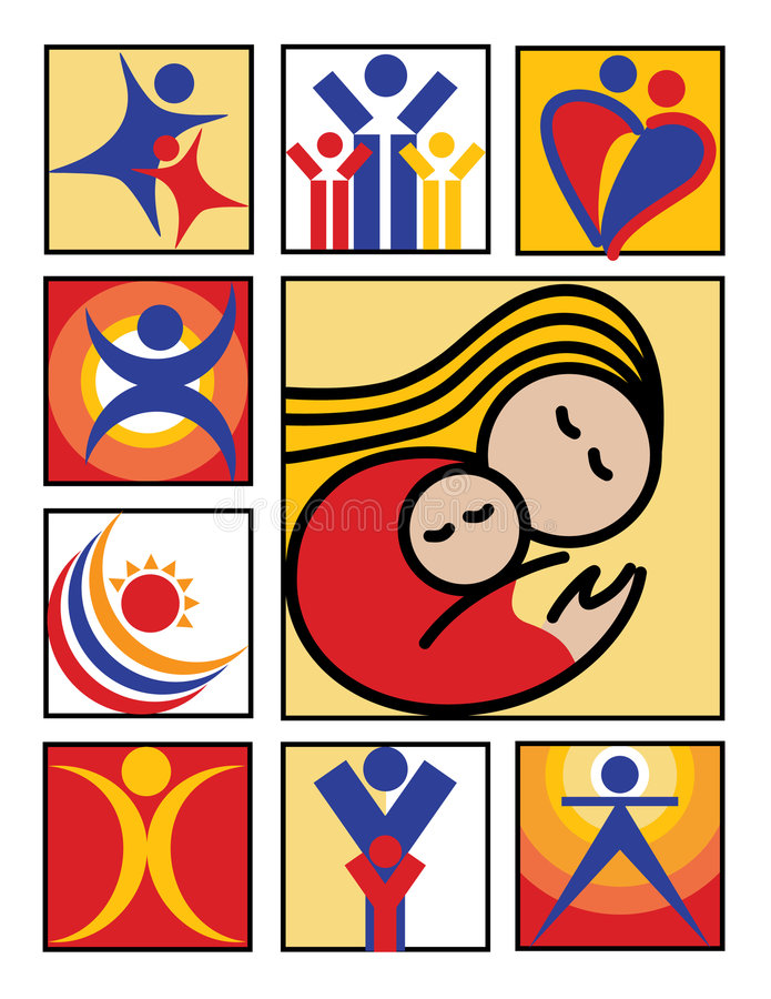 Download People Icons stock vector. Image of icon, loving, blue - 2572740