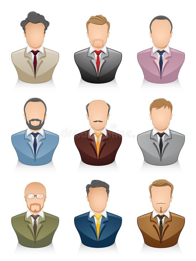 People Icons Businessman royalty free illustration