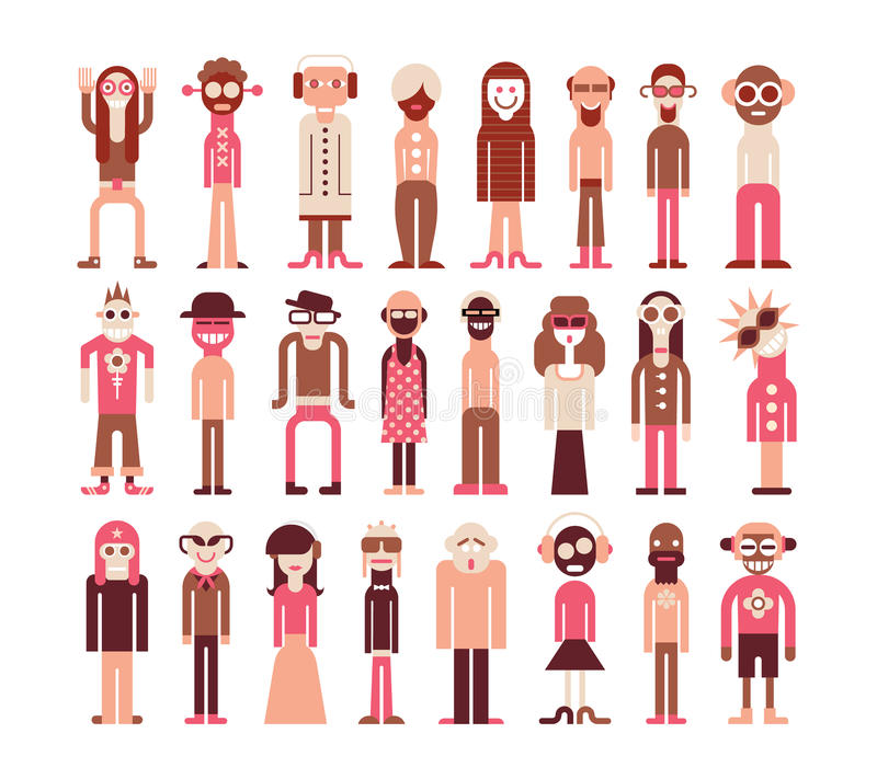 People icons stock illustration