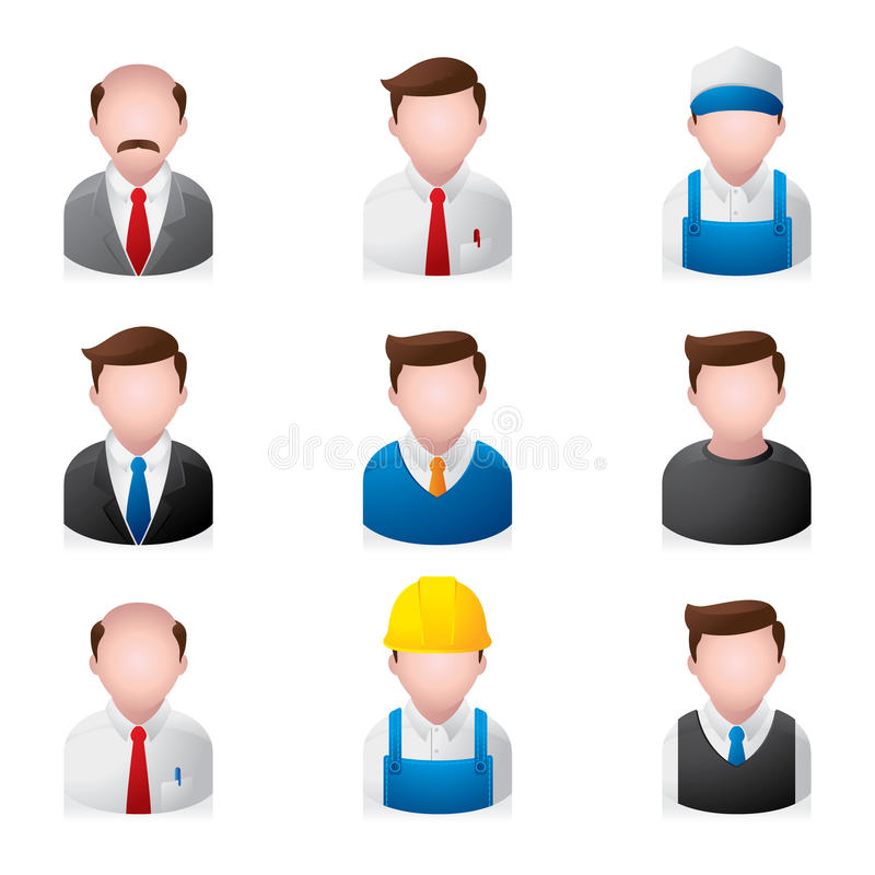 People Icons - Office. A set of office people icons. Fully editable EPS 10 file royalty free illustration