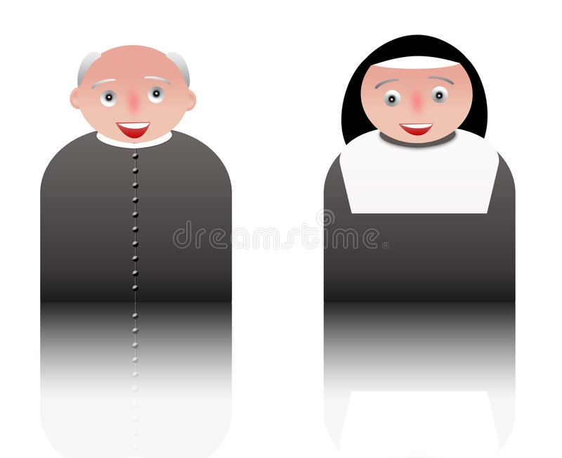People icons parish priest and sister