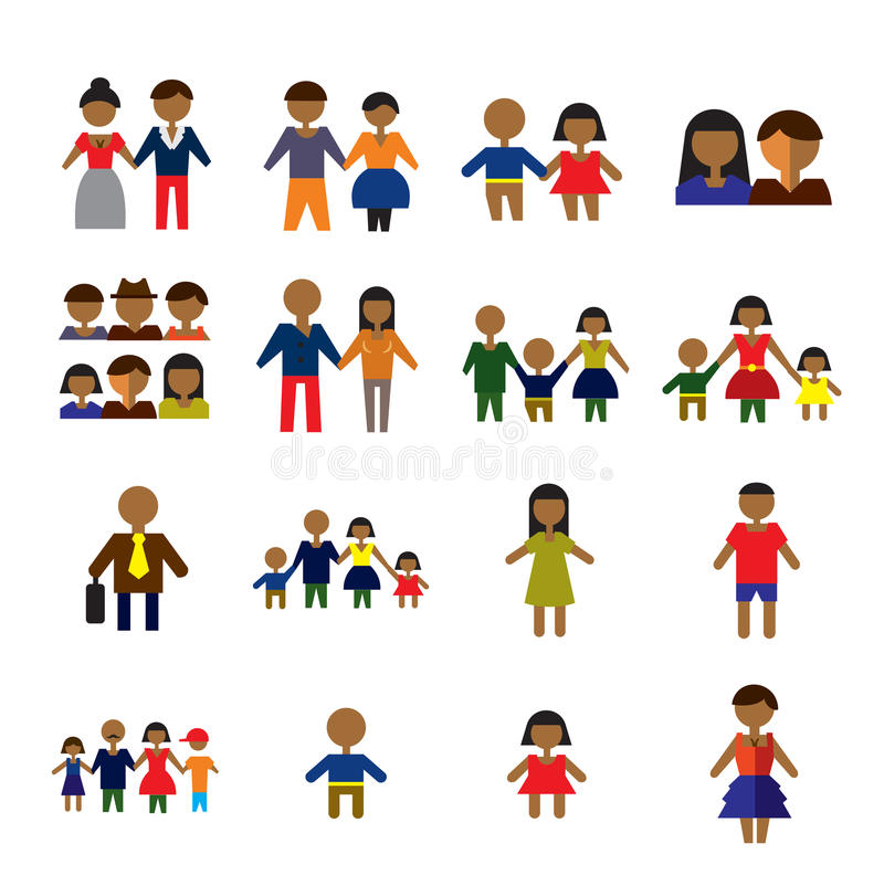 People icons royalty free illustration