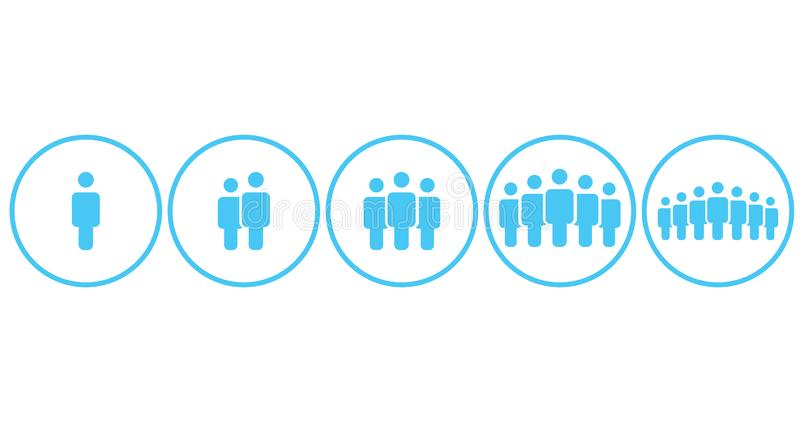People Icons Work Group Team, Persons Crowd Symbol Simple Set in circle For Using In Web site Infographics Report, Vector Illustra. Tion vector illustration
