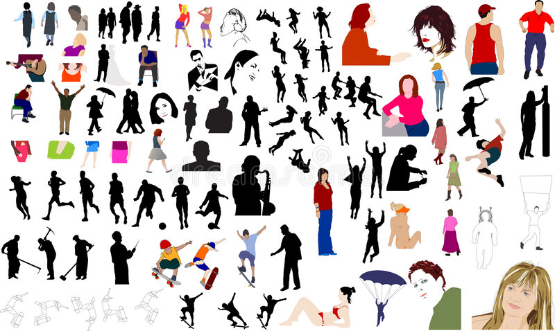 People illustrations stock illustration