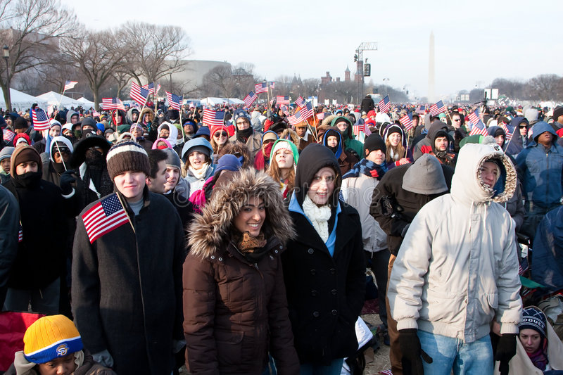 People at the Inauguration stock photo