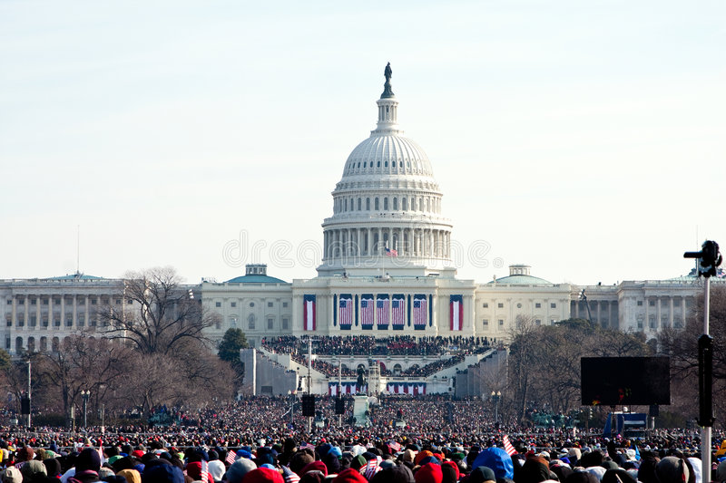 People at the Inauguration stock images