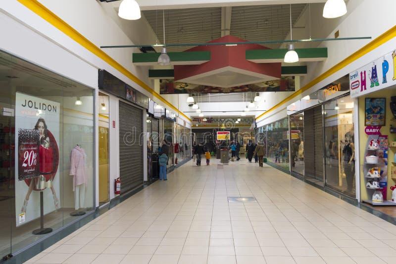 People inside hypermarket stock images