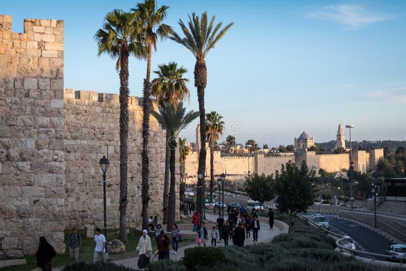 People of Jerusalem walking royalty free stock photography