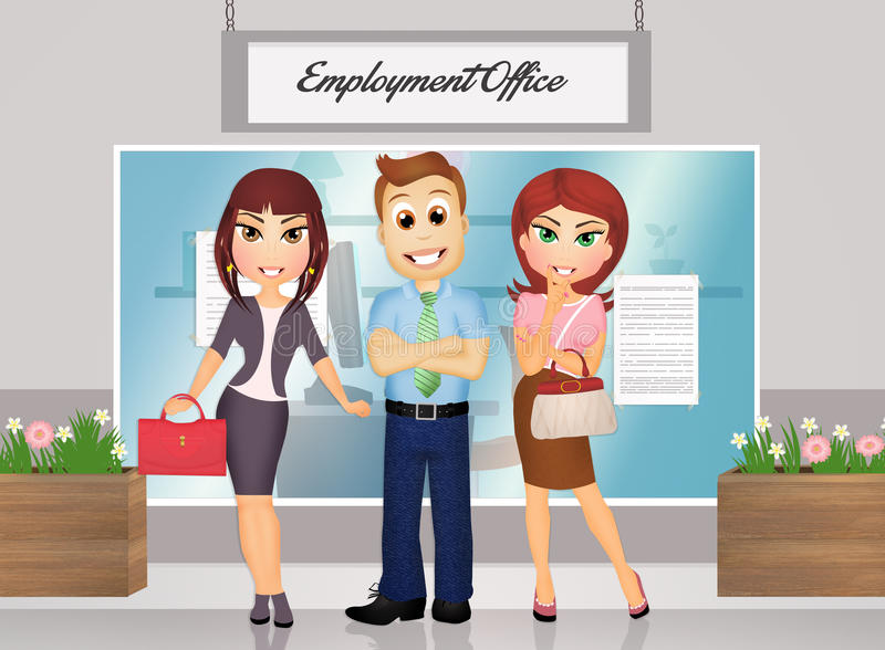 People at the job royalty free illustration