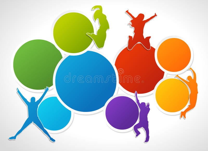 Download People jumping stock vector. Image of marketing, boss - 27717093