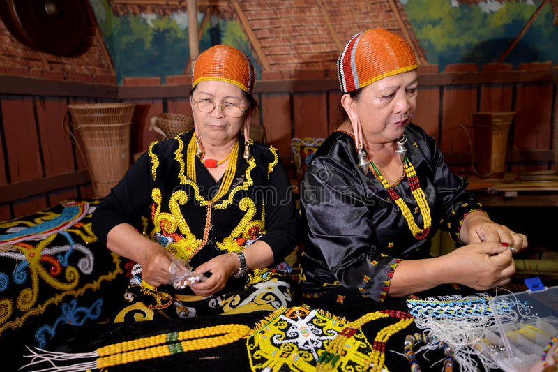People of Kelabit. The Kelabit are an indigenous people of the Sarawak/North Kalimantan highlands of Borneo with a minority in the neighbouring state of Brunei stock photo