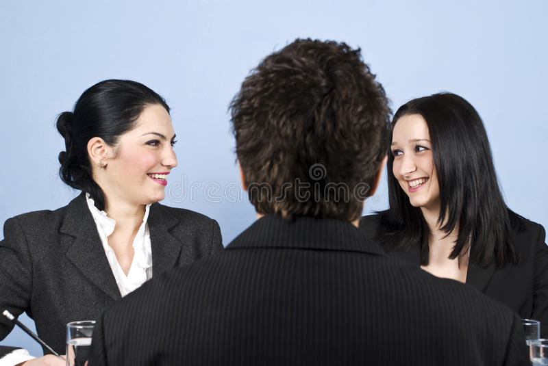 Download People Laughing At Job Interview Stock Photo - Image: 12522436