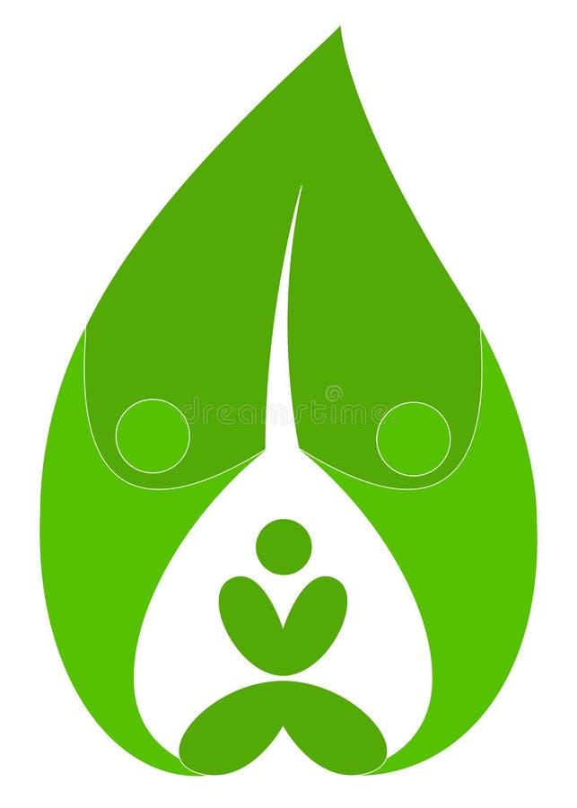 People leaf. Illustration of people leaf design isolated on white background stock illustration