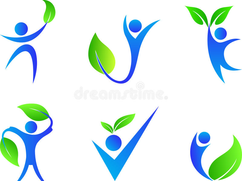 Download People With Leaf Stock Vector - Image: 40055520