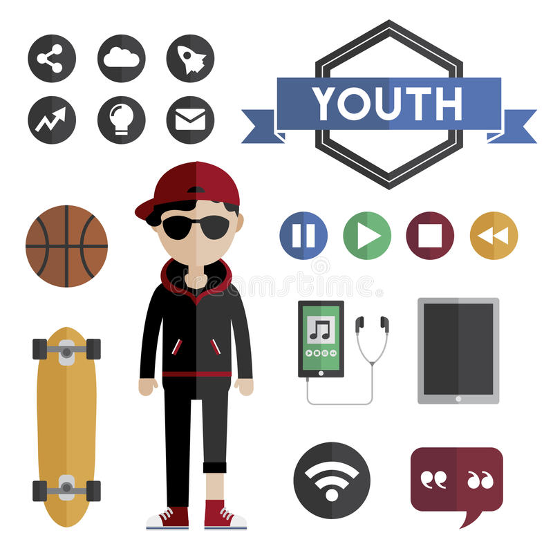 People Lifestyle Contemporary Icon Vector Concept.  vector illustration