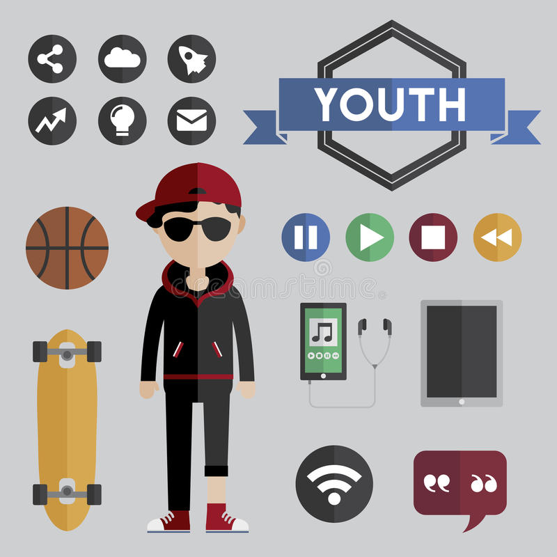 People Lifestyle Contemporary Icon Vector Concept.  royalty free illustration