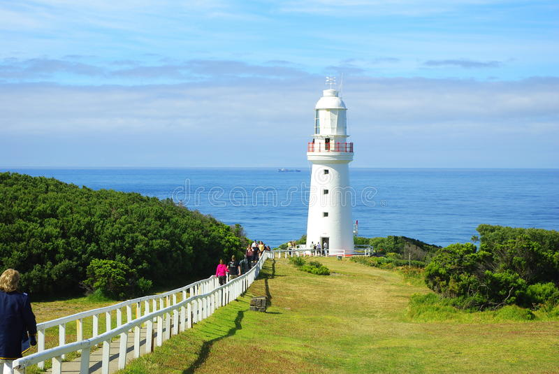 People at lighthouse royalty free stock photo