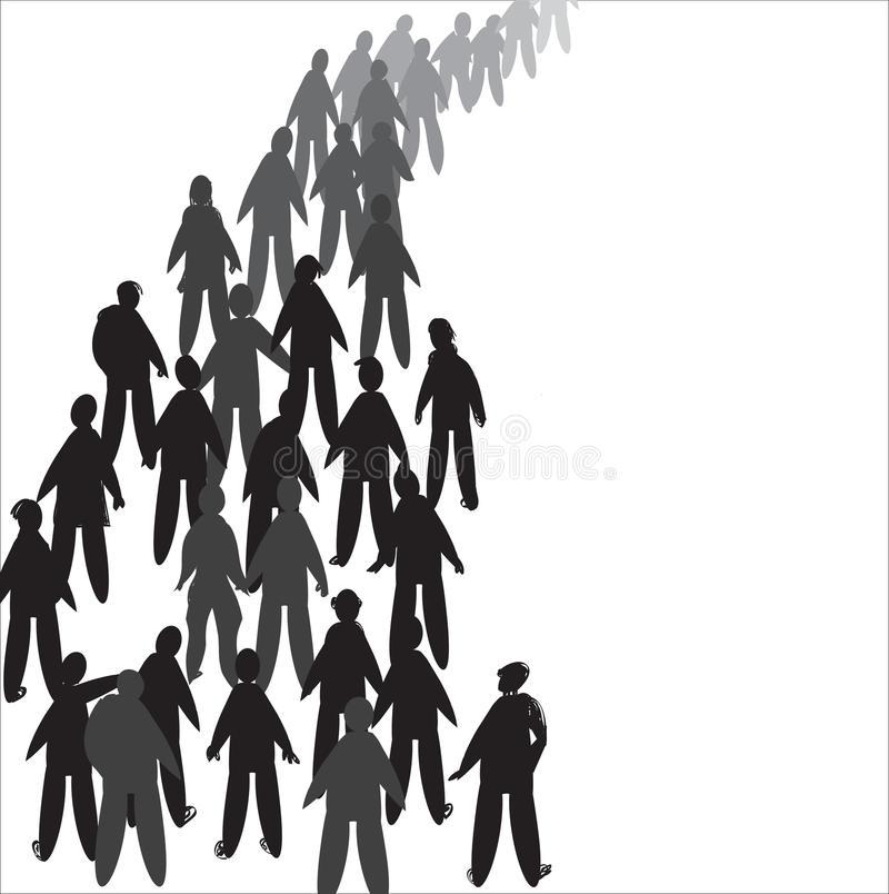 People In Line vector illustration