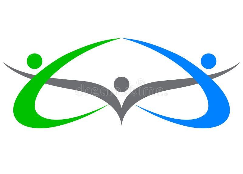 People logo. Illustration of people logo design isolated on white background vector illustration