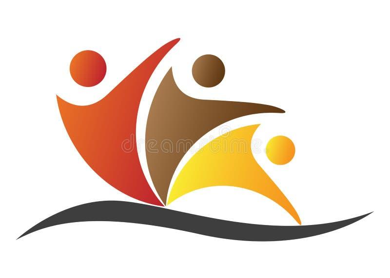 People logo. Illustration of people logo design isolated on white background stock illustration