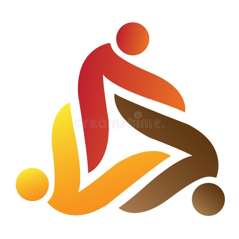 People logo. Illustration of people logo isolated on white background royalty free illustration