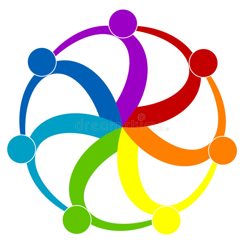 People logo. Illustration of people logo isolated on white background vector illustration