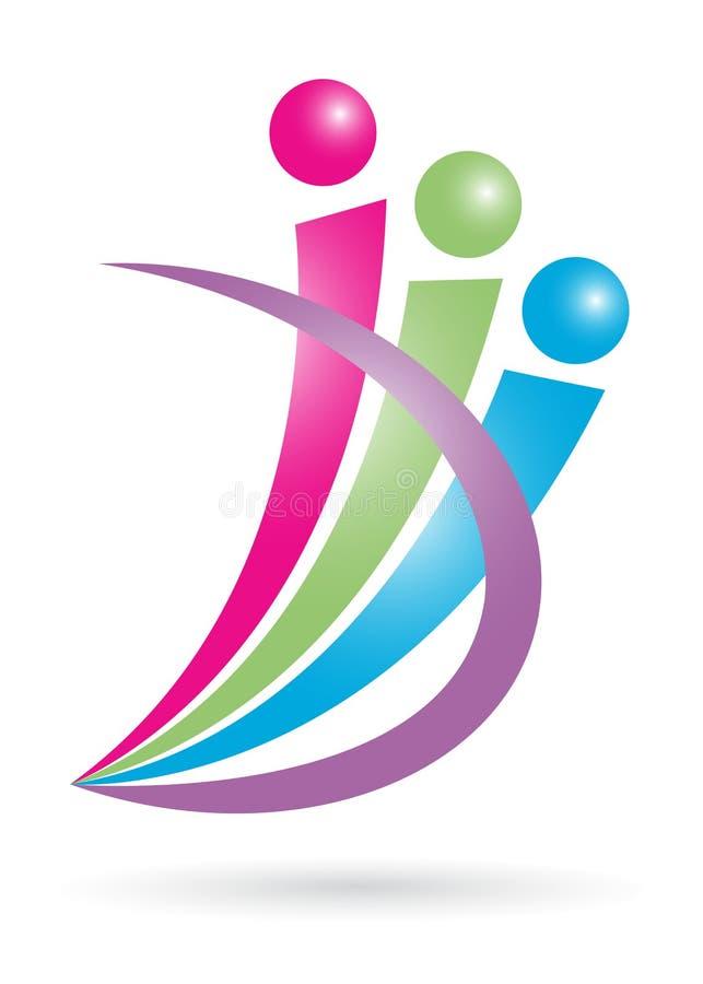 People logo. Illustration of people logo design on white background stock illustration