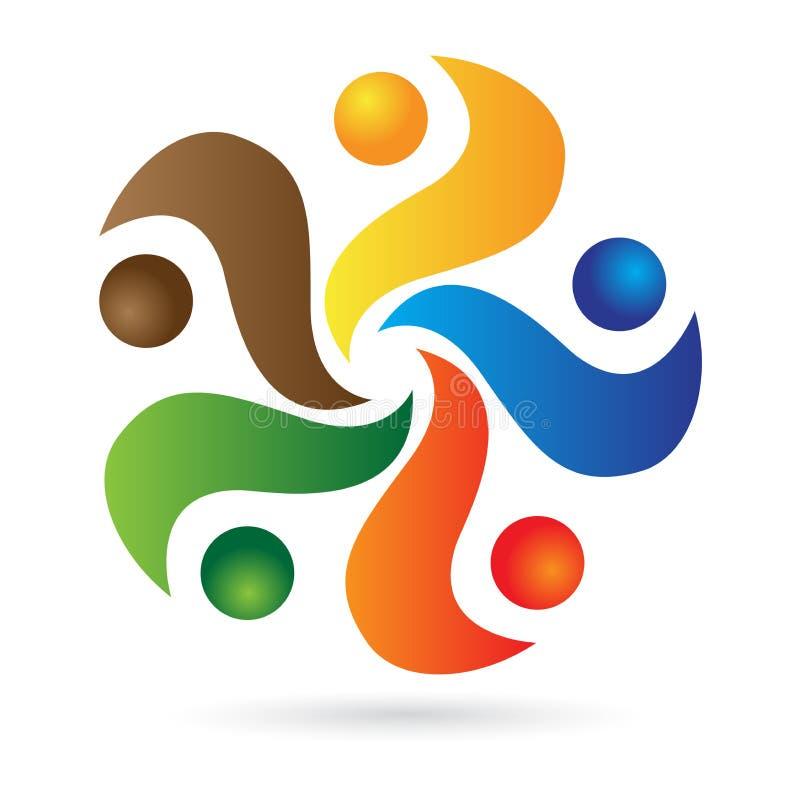 People logo. Illustration of people logo design isolated on white background royalty free illustration