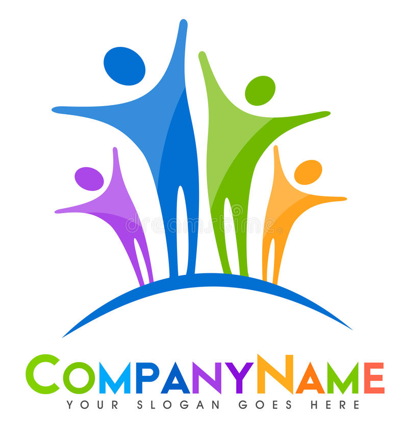Download People Logo stock illustration. Image of jump, arch, graphic - 40224890