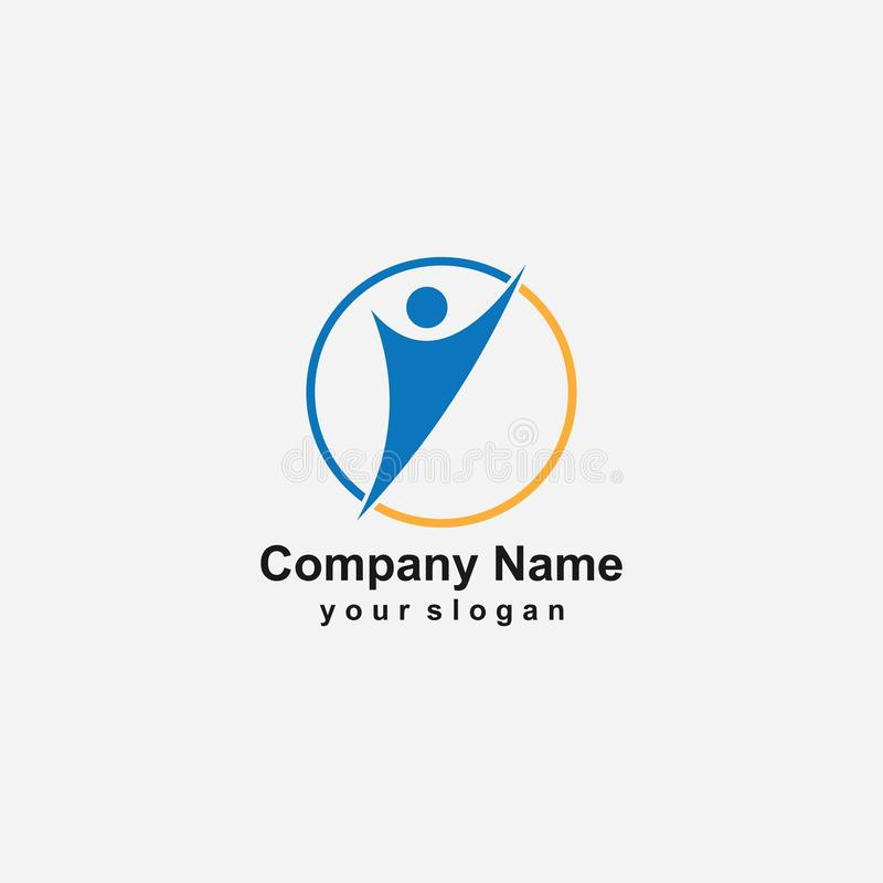 People Logo Template vector illustration