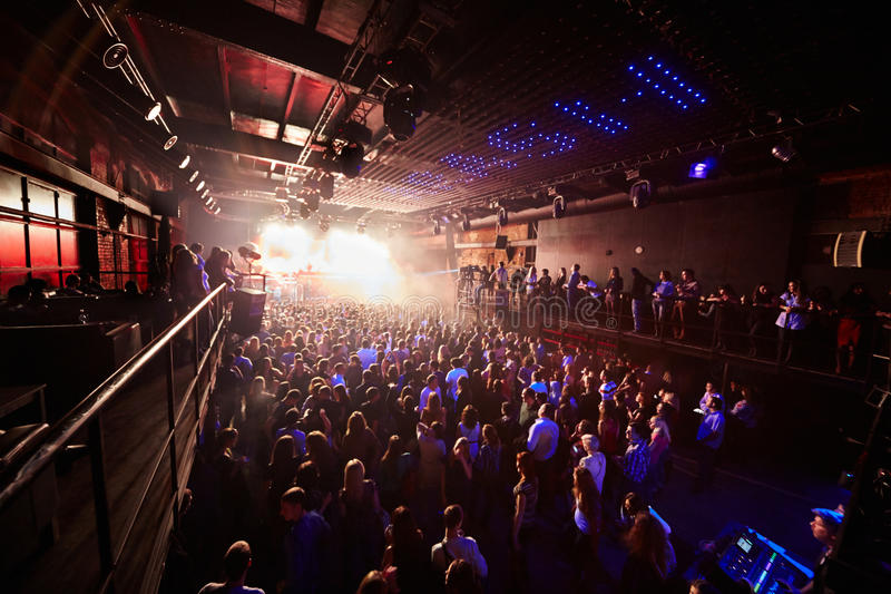 People look at Arma Music Hall Arash show royalty free stock photo