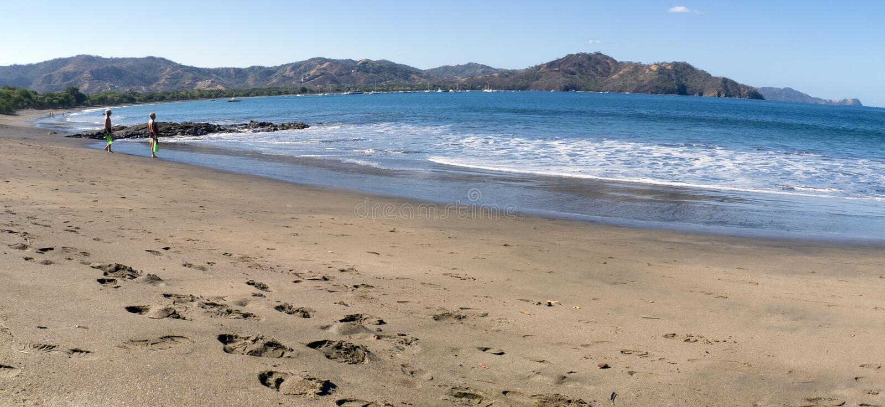 Download People Looking The Ocean In Costa Rica Stock Image - Image: 28836267