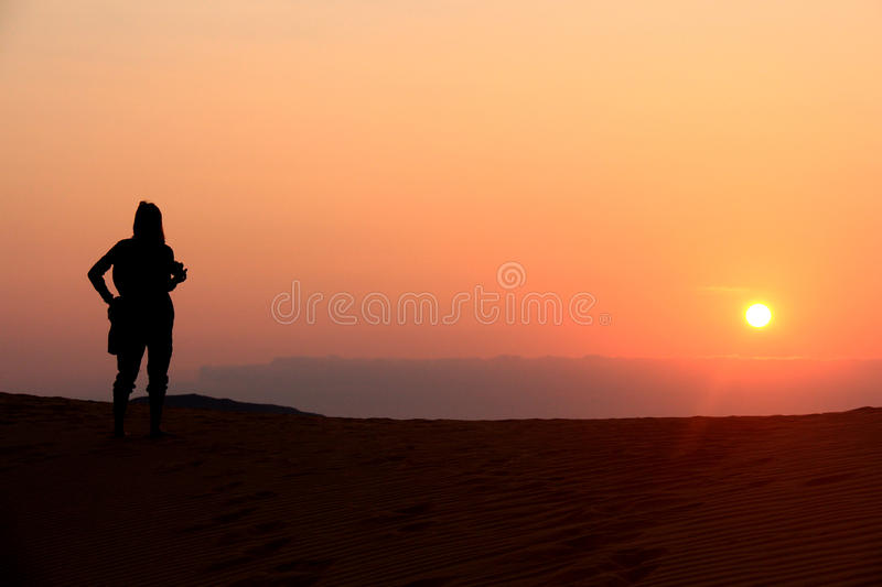 People looking the sunrise stock images