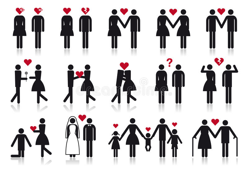 Download People In Love, Vector Icon Set Stock Vector - Image: 23174771