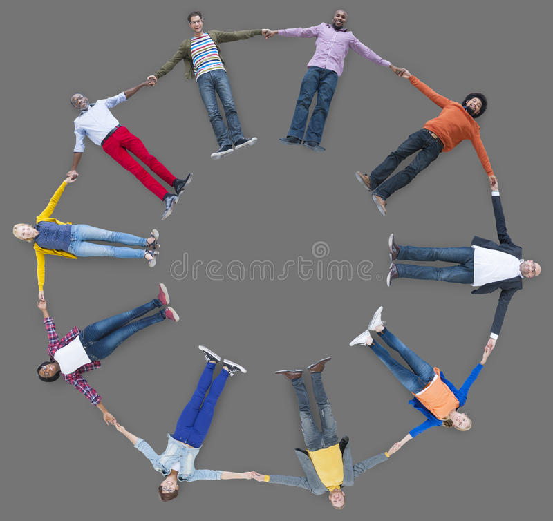 People Lying Down Multiethnic Group Unity Friendship Concept royalty free stock photography